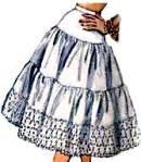 """Anágua de renda, para vestir por cima das """"de goma""""."""
