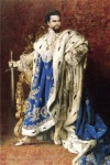 Mimetizando Luís XIV, que ele admirava.
