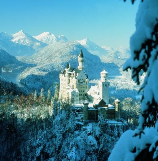 Neusch no inverno, uma visão de sonho.