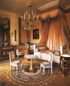 Cama de Napoleão Bonaparte em Versailles.