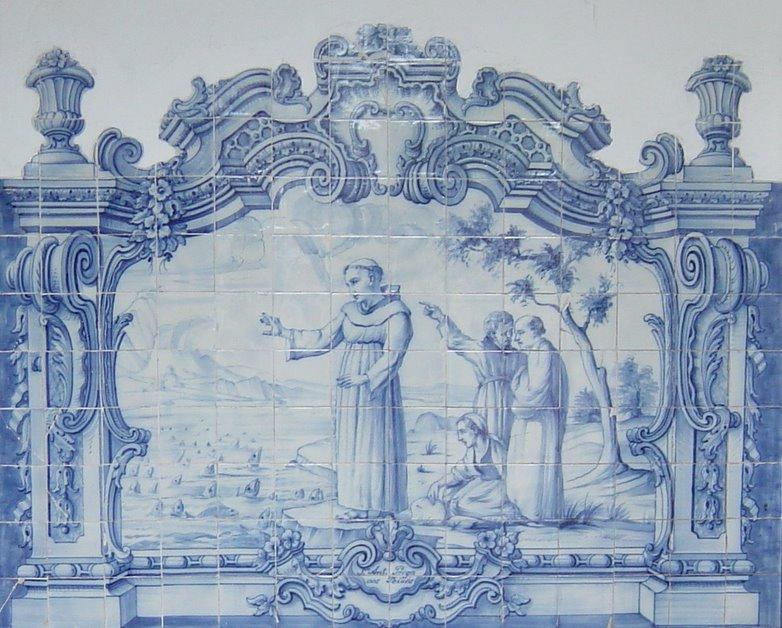 Santo Antonio prega aos peixes.
