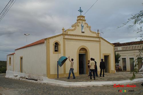 Caraúbas-PB. Igreja do Rosário. Foto de Egberto Araújo.