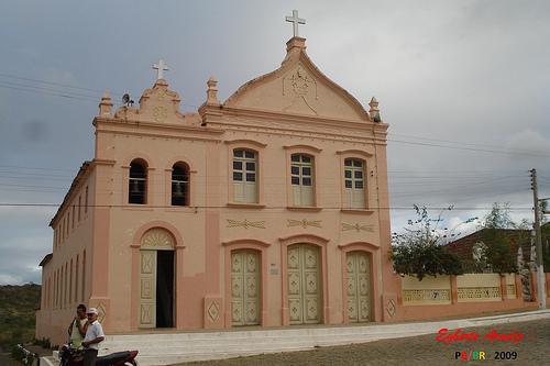 Caraúbas-PB. Matriz. Foto de Egberto Araújo.