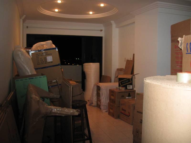 Assim ficou meu apartamento em João Pessoa depois de tudo embalado.