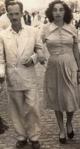Com Mamãe, em 1950.
