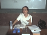 Dando aula. 1999.